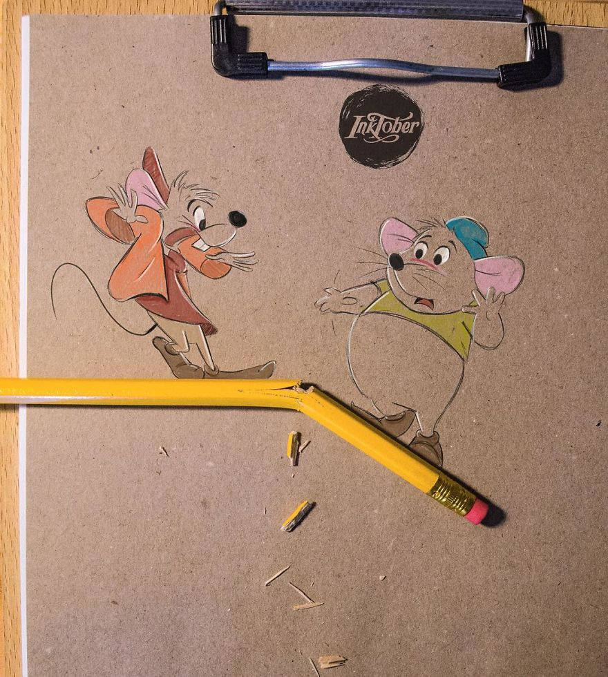 This Artist Makes His 3D Drawings Jump Off The Paper
