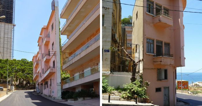 This Man Built Probably The Thinnest House In Beirut To Block His Brother's View To The Sea