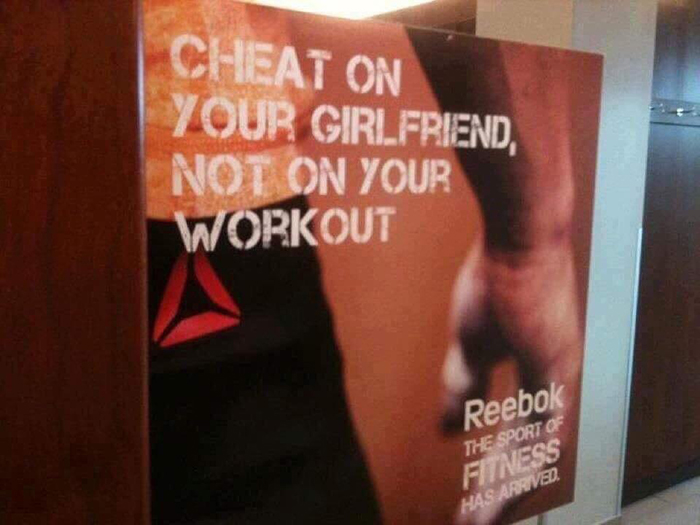 Cheat On Your Girlfriend, Not On Your Workout
