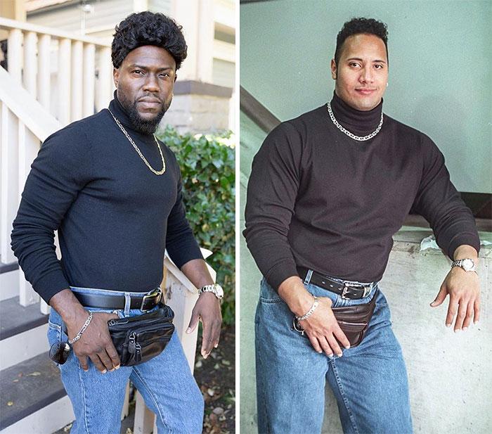 Kevin Hart Como Dwayne Johnson