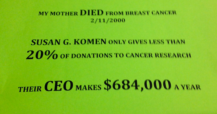 Poster Calling Breast Cancer Charity A 'Scam' Goes Viral, Then Someone Explains Why It's Wrong