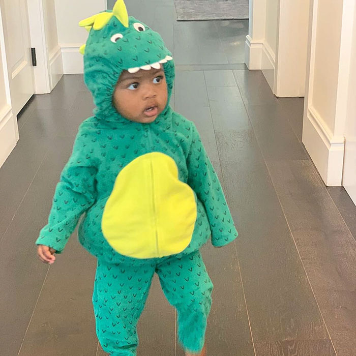 Gabrielle Union's Daughter Kaavia Dressed As Dragon