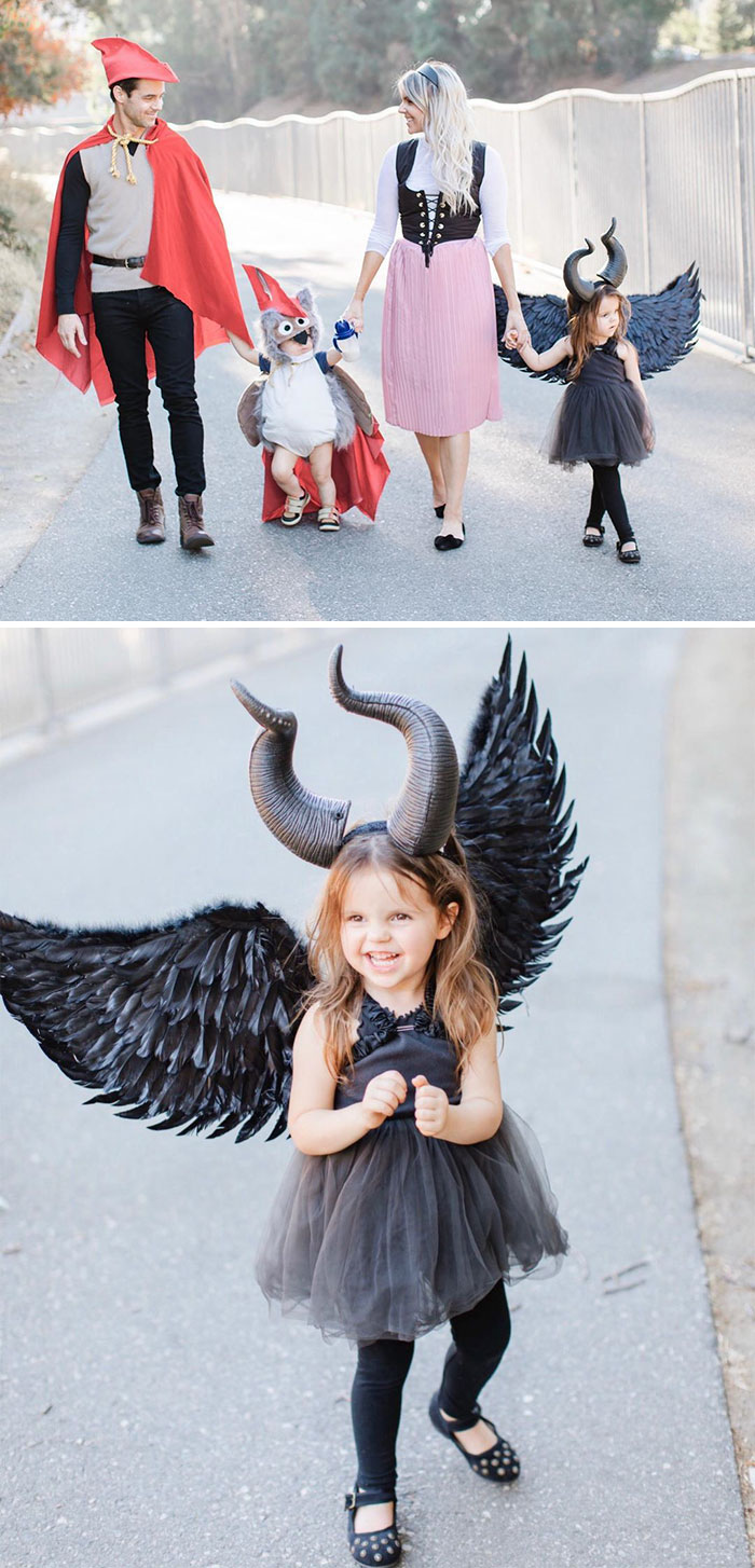Ali Fedotowsy's Family Dressed As Characters From Sleeping Beauty