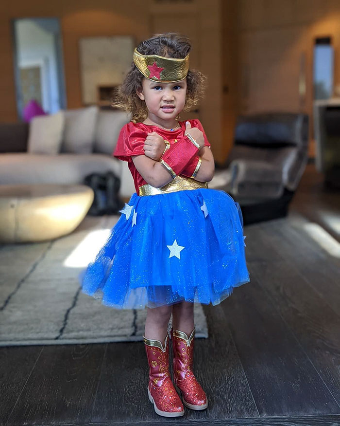 Chrissy Teigen And John Legend's Daughter Luna Dressed Up As Wonder Woman