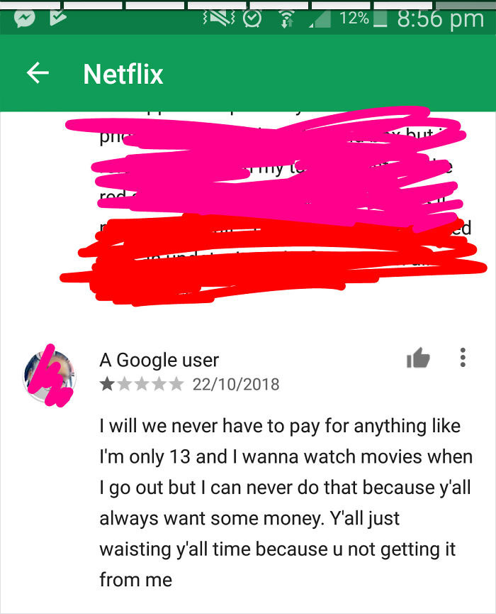 I Don't Want To Pay So 1 Star (Netflix)