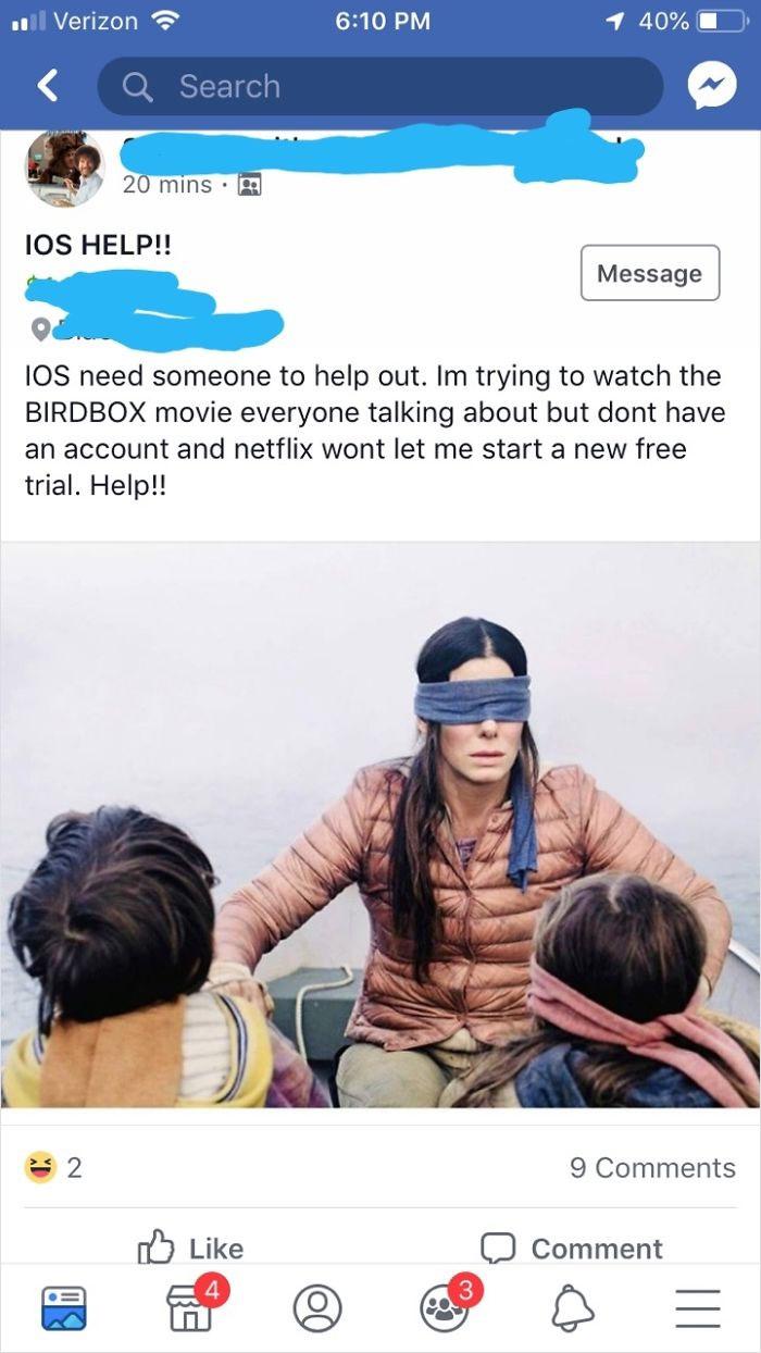 Beggar Needs Your Netflix