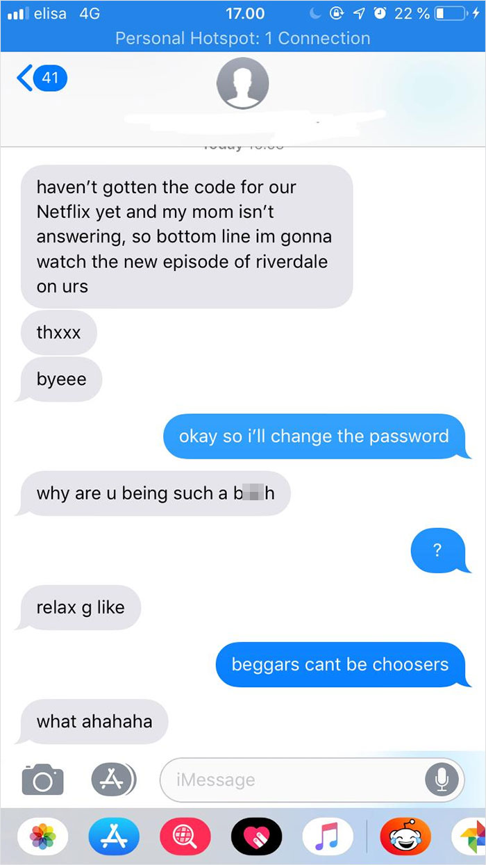 After A Year Of Separation, She Says She's Going To Use My Netflix