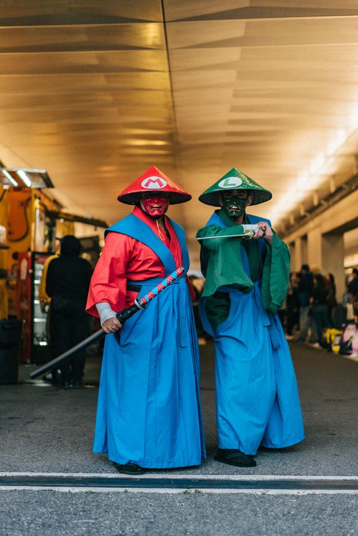 Mario & Luigi, Samurais