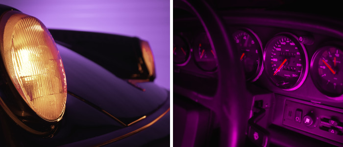 Neon Porsche Shoot Inspired By 'Drive'