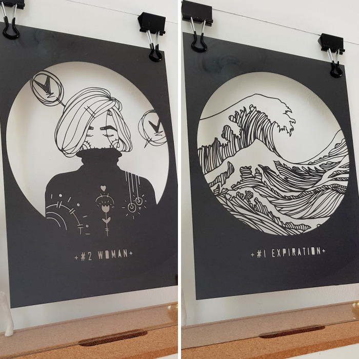 I Am Passionate About Illustration And Paper Cut, I Wanted To Do Both In One