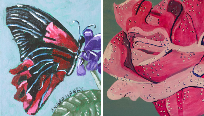 I Spent Weeks On These Paintings Out Of Acrylic Paint And Stretched Canvas