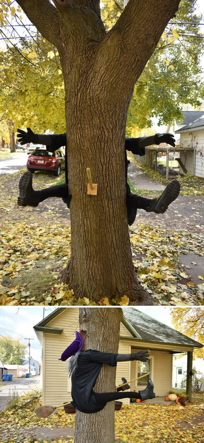 Homemade Halloween Witch Decoration