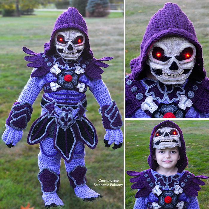 Crochet Skeletor Costume