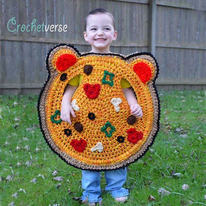 Crochet Pizza Costume