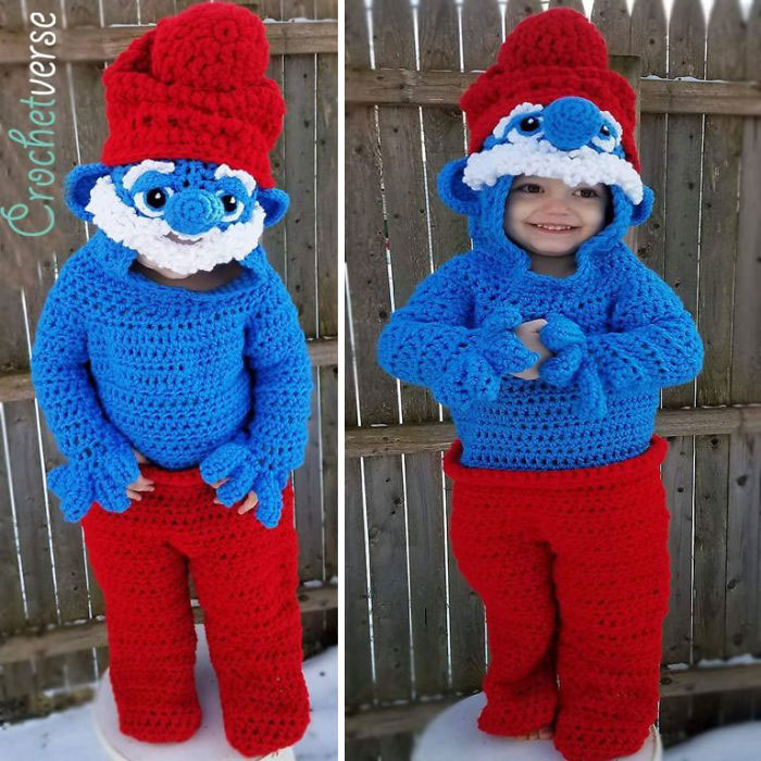 Crochet Papa Smurf Costume