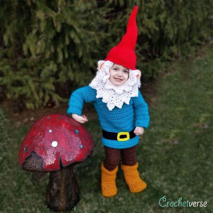 Crochet Garden Gnome Costume