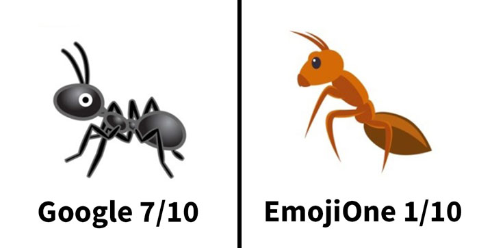 Entomologist Rates Ant Emojis Of Different Brands And Their Descriptions Are Hilarious