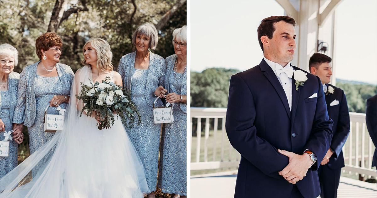 Bride Opts To Have Her 4 Grandmas As Flower Girls And They Totally Crush It