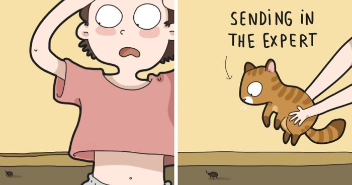 I Illustrate Hilarious Moments In The Life Of Every Cat Owner (40 New Pics)