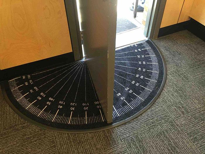 This Doormat Measures The Angle Of The Open Door