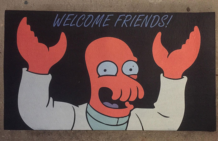 My Girlfriend Had This Doormat Custom Made For Me. Looks Like I Found Me A Keeper