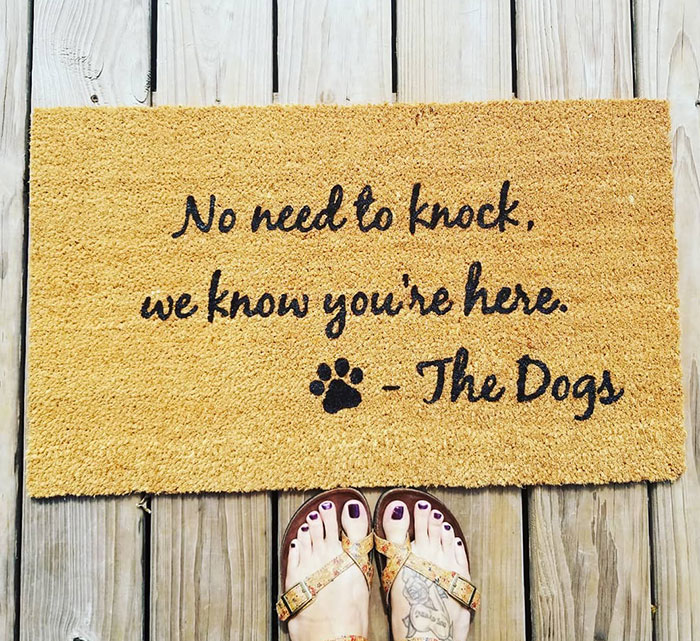 Any Dog Parent Knows This Is True. My In-Laws, Who Have 6 Rescue Dogs, Were Just Gifted This Doormat Earlier This Week