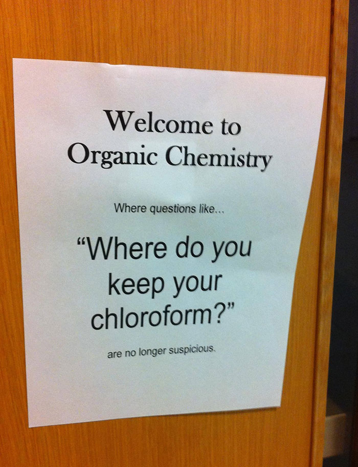 On A Door In The Health Sciences Building At School