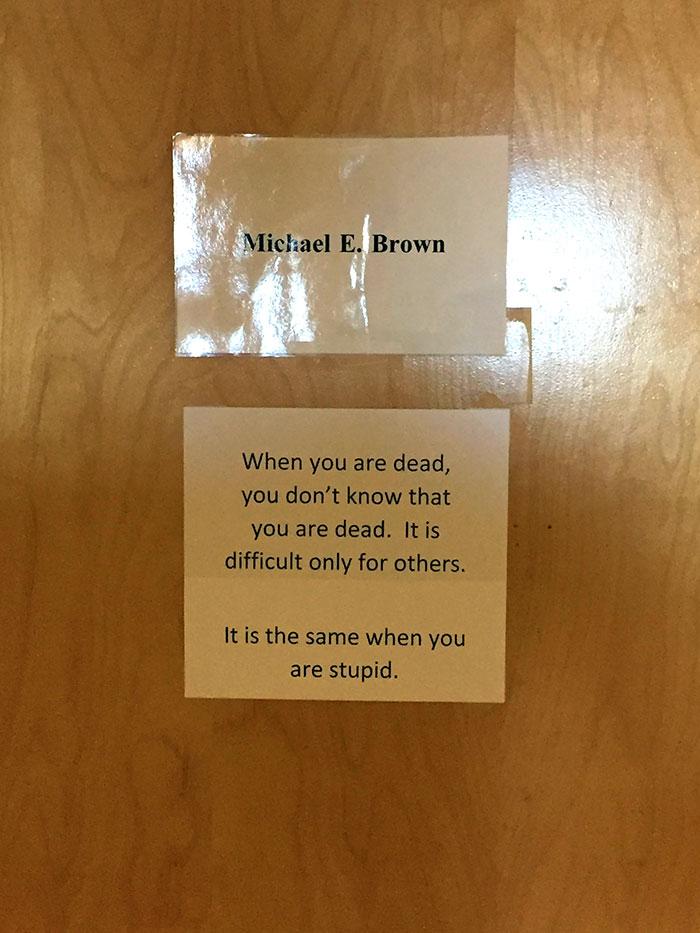 A Little Wisdom From My Physics Professor