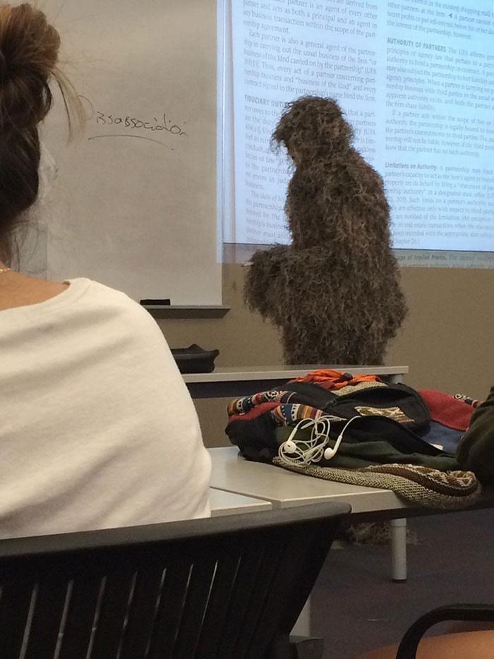 Hoy el profesor se ha puesto esto sin explicación alguna
