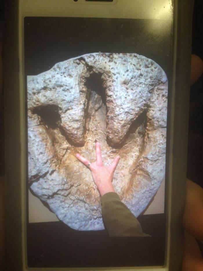 Mi profesor solo tiene 3 dedos en una mano, y se aprovechó de ello en la visita al museo