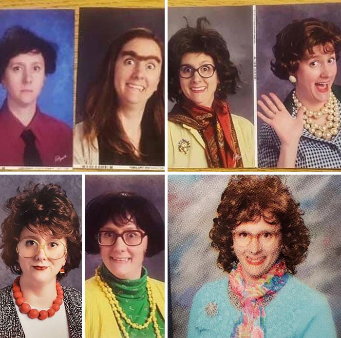 Esta profesora se disfraza cada año en el anuario