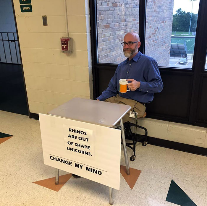 "Today Was ""Meme Day"" At My Old High School For Homecoming Week. I Appreciate This Science Teacher Even More Now"
