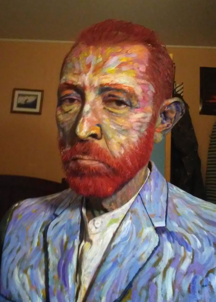 My High School Art Teacher's Amazing Van Gogh Costume