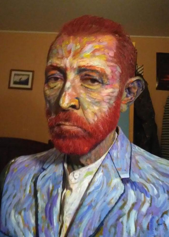 El disfraz de Van Gogh de mi profesor de arte