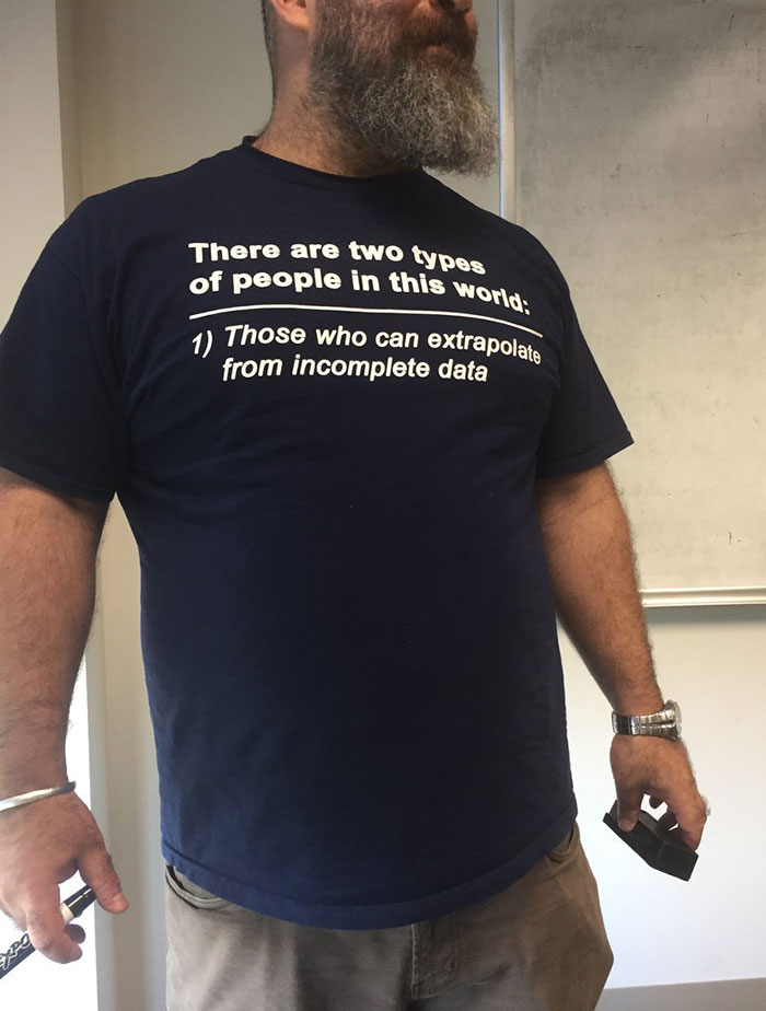 Students Were Asking This Professor If His Shirt Is Missing The 2nd Part