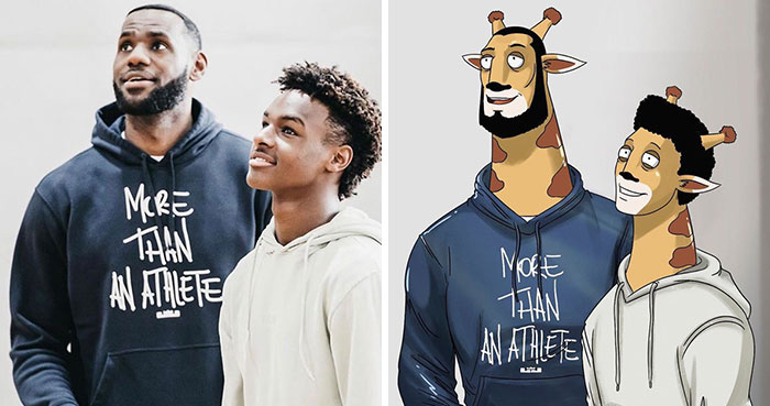 LeBron James Had His Instagram Recreated In A Cartoony Animal Style By A Fan Who's An Artist