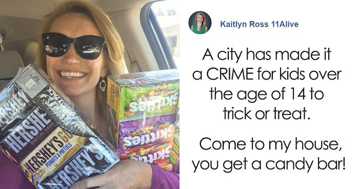 Woman Says She's Gonna 'Break The Law' And Give Candy To Kids On Halloween In A Powerful Post