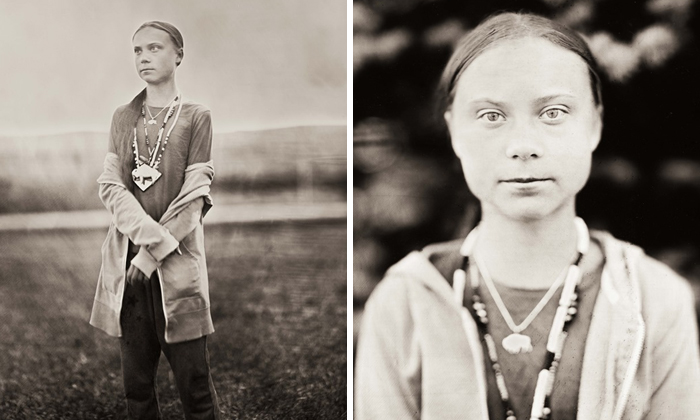 Climate Change Activist Greta Thunberg Is Eternalized Using A 150-Year-Old Photography Technique