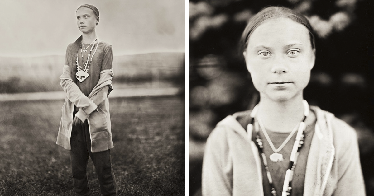 16-Year-Old Eco Activist Greta Thunberg Captured On Wet Plate Photography, And It Looks Powerful