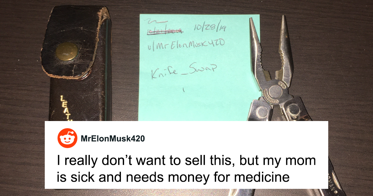 Guy Tries Selling His Grandfather's Leatherman To Pay For Medicine, People Don't Let Him