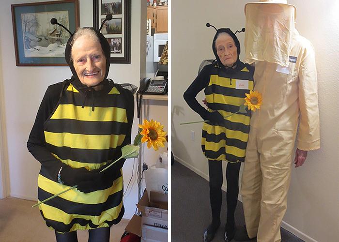 Mujer De 88 Años Y Su Marido De 92 Asistieron A Una Fiesta De Halloween