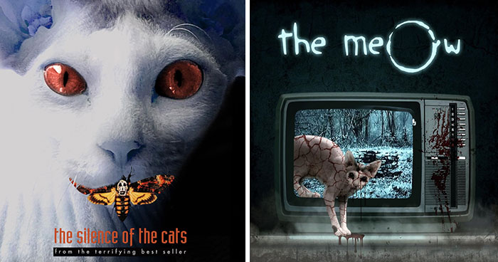My 66 Movie Poster Parodies Starring Sphynx Cats