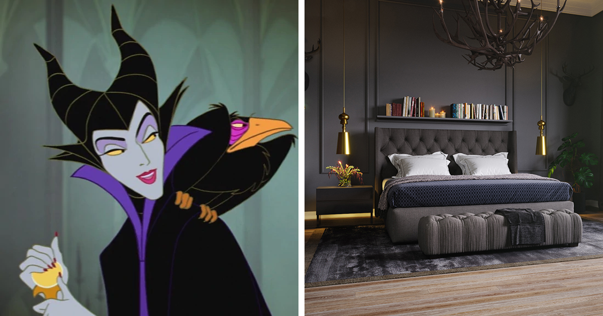 Here's How Disney Villains Would Decorate Their Bedrooms Today (6 Pics)