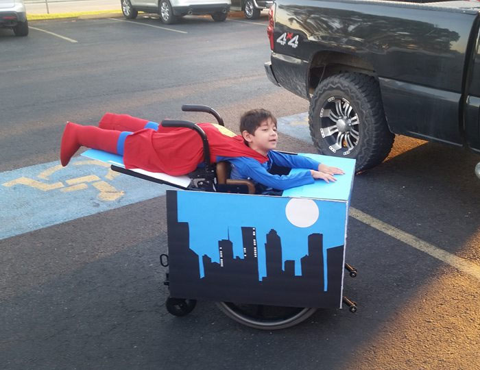 Wheelchair Superman Costume