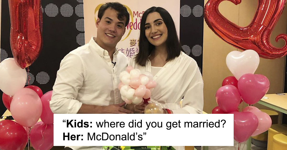 McDonald's In Hong Kong Offers Wedding Parties For Less Than $400 And This Couple Tried It Out