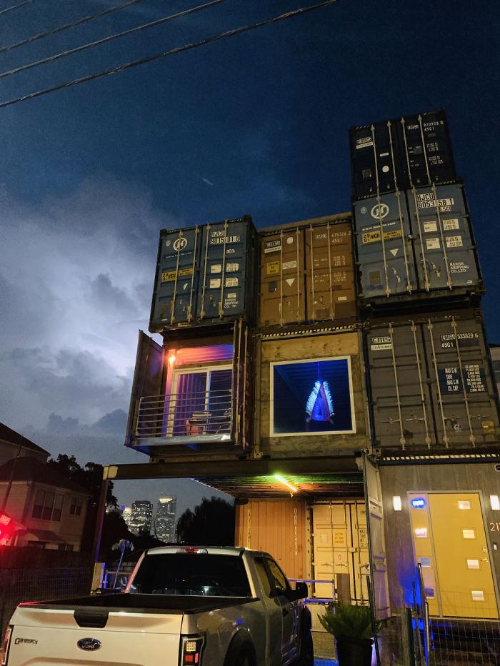 droomhuis van zeecontainers