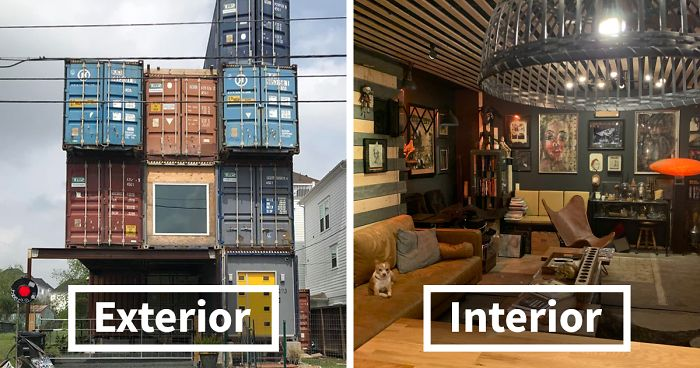 Man Uses 11 Shipping Containers To Build His 2,500 Square ... Home Street Design Basic Dreamhouse on