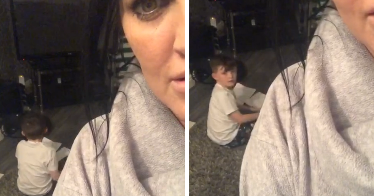 Mom Catches Her 9-Year-Old Son Using Alexa To Do Homework And His Reaction Is Priceless