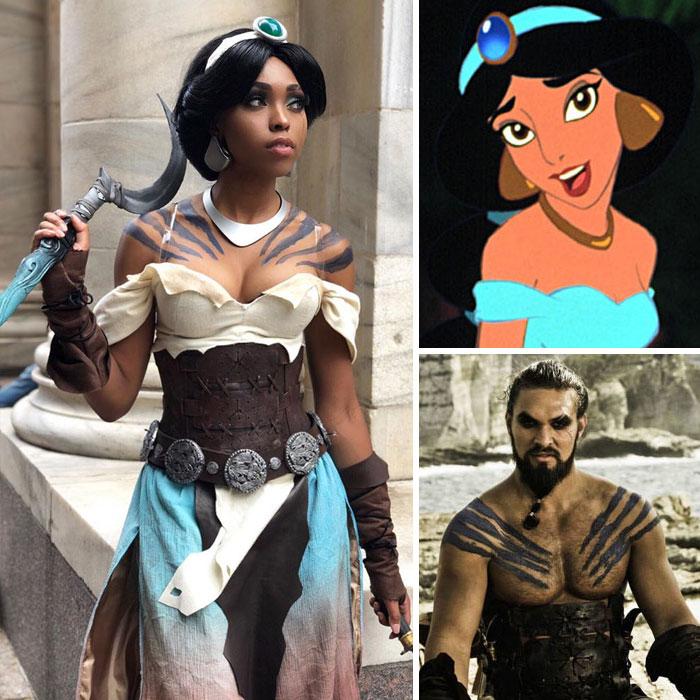 Princess Jasmine (Aladdin) + Khal Drogo (Game Of Thrones)