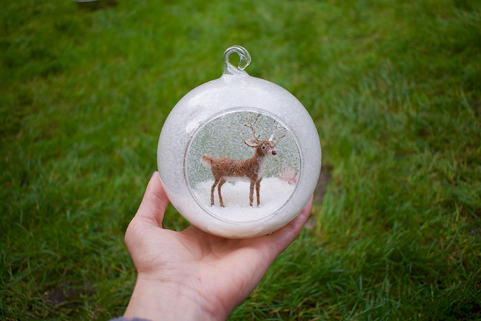 My 27 Animal Scenes Made From Needle Felted Animals And Ordinary Glass Baubles